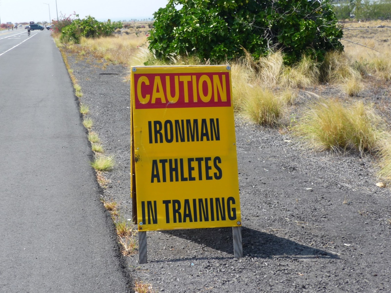 Athletes in training sign