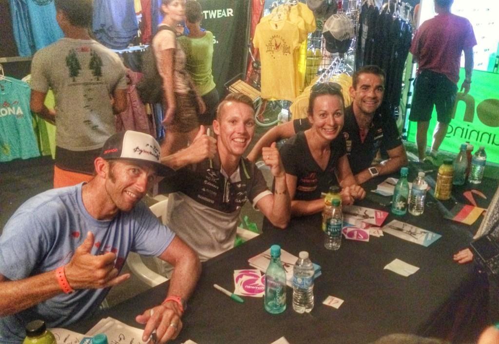 Tim Berkel - Newton Sponsor Tent signing autographs